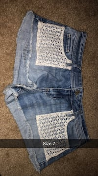 blue denim distressed short shorts Knoxville, 37912