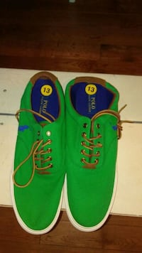 Polo green-and-blue low-top sneakers 317 mi