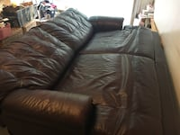 Brown leather reclining couch Gaithersburg