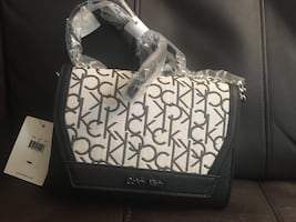 Calvin klein black&white brand new purse