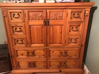 Large pine chest with drawers and cabinets Frederick, 21703