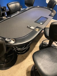 Professional Poker Table w/ 8 chairs