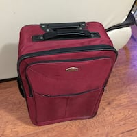 Red and black luggage bag/suitcase  Toronto, M1J 3K2