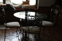 Beautful glass dining room table set IRVING