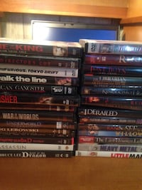 "REDUCED PRICE!! Entire lot of Dvds must go(no need for them anymore. 31 titles, titles are listed in the ""more info: Gray, 70359"