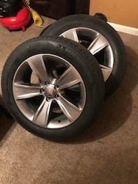 Set of dodge charger tires gently used 584 mi