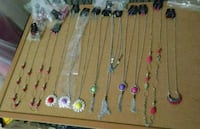 assorted color beaded necklace lot Abilene, 79602