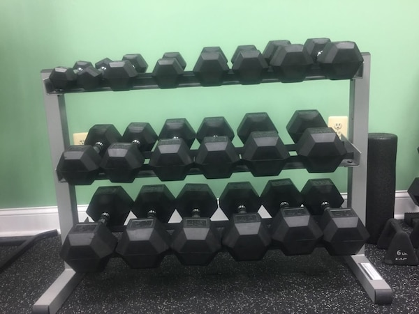 DUMBBELL WEIGHT SET WITH RACK
