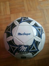 white and blue MacGregor soccer ball St. Catharines, L2R 5K5