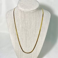 14k Gold Herringbone Necklace Chain Sterling, 20165