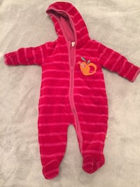 pink and red stripe zip baby sleeper Nacka, 132 34
