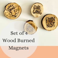 Set of 4 Handmade Magnets Indianapolis, 46217