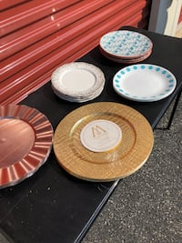 Plates/Chargers $5 each set null