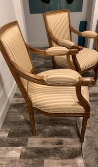 Armed French style accent chairs  Los Angeles