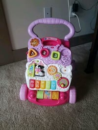 pink and white Vtech learning walker Chesapeake, 23320