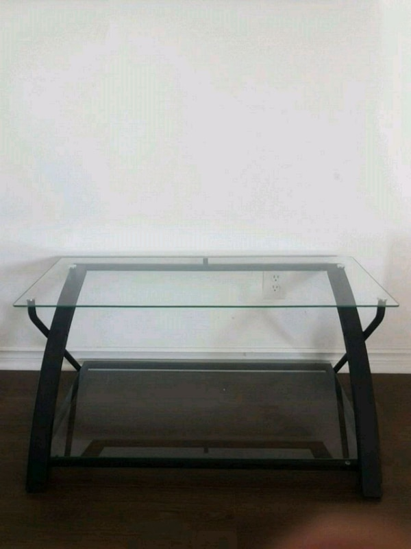 Glass Table TV Stand
