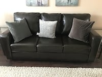Faux leather couch Newmarket, L3X 2Z6