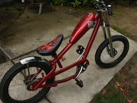 Red and black chopper bicycle Orangeville, L9W 5E9