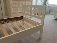 white wooden bed frame with storage St. Louis, 63131
