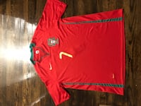 red and white Nike polo shirt 544 km