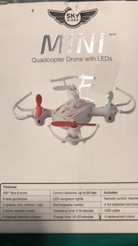white and red quadcopter drone Fairbanks, 99701
