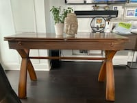 Console Table (Easily converts into a dining table) REAL OAK WOOD Toronto, M8V 0G7