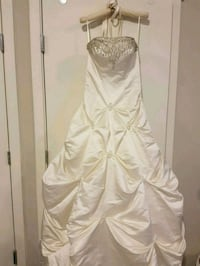 white strapless wedding gown Coquitlam
