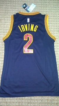 blue and yellow Cleveland Cavaliers Kyrie Irving 2 Taunton, 02780