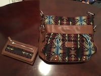 brown blue and red tribal print bag Longueuil, J4J 3H5