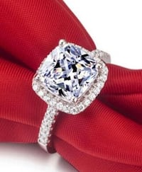 Brand new Luxury 100% 925 Sterling Silver Rings Wedding Engagement Acessories Cubic Zirconia Nanaimo, V9T 2N6