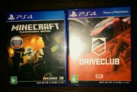 Minecraft  ,Driveclub Sony Ps4
