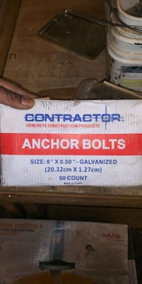 Anchor Bolts w/ Nuts and shields Norfolk, 23517