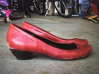 Red Leather Hush Puppies Slip ons Edmonton, T6R 0B5