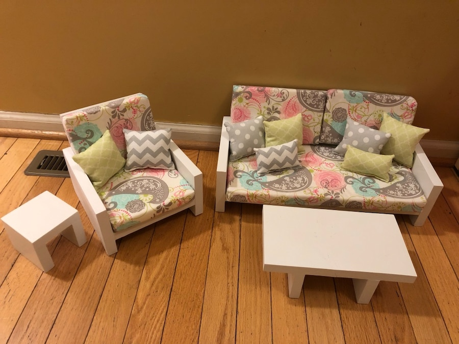 Charmant American Girl Doll Living Room Set For 18 Inch Dolls