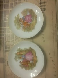 white and pink floral ceramic plate Mississauga, L5A 3R1