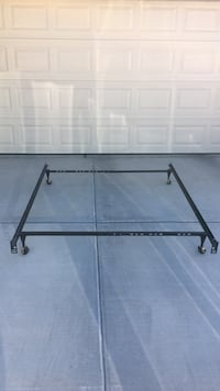 Queen to Full To Twin Metal Bed Frame on Wheels Las Vegas, 89144
