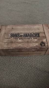 Brown wooden sons of anarchy the collection set box