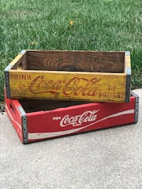 Vintage wood Coca Cola crates Sterling, 20165