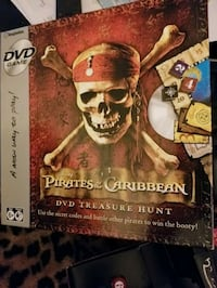 Dvd game set with cards, dice dvd gameboard,PIRATES of the CARIBBEAN  Garfield, 07026