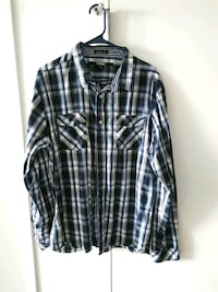Plade blue gray and white XL Dallas, 75201