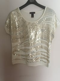 Gold sequin top Markham