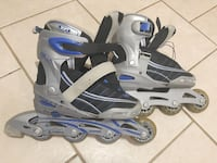 pair of gray-and-blue inline skates Whitby, L1N 1Z2