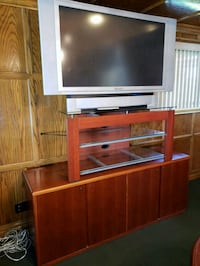 Solid cherry wood credenza with TV and stand  Bennington, 68007
