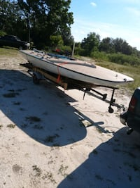 Used C Scow 20 Foot Sailboat No Mast Or Sail For Sale In