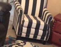 Dark gray and white chair. I have 2 of them matching. $50 a piece  Houston, 77339