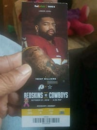 Washington Redskins vs Dallas Cowboys  tickets!! G Alexandria, 22305