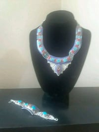 925 Sterling and Turquoise Stone Necklace   Nottingham, 21236