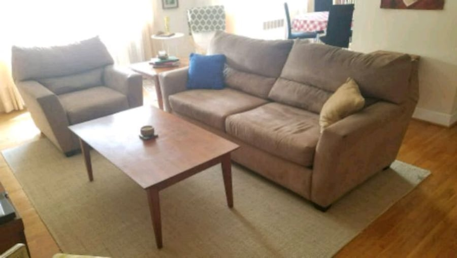 Microfiber Couch and Loveseat 3d5a8980-f381-4add-8955-7505b5be9807