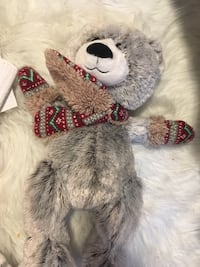 gray and pink bear plush toy Edmonton, T6W 0Y9