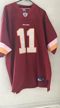 Red and white 11 football jersey stitched  291 mi